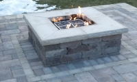 Macomb County Brickpaver Firepit