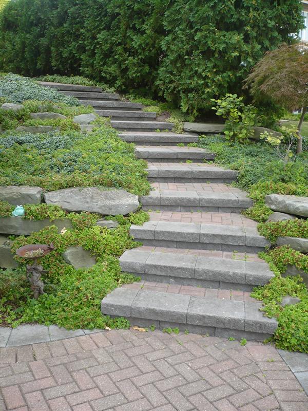 Macomb County Brick Paver Steps