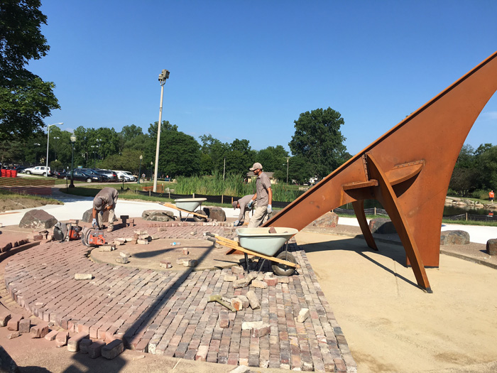 Sitescape Inc Completes Sun Dial Hardscape In Rochester